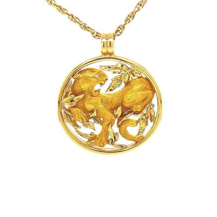 Zlatý Přívěsek Magerit Puma Round