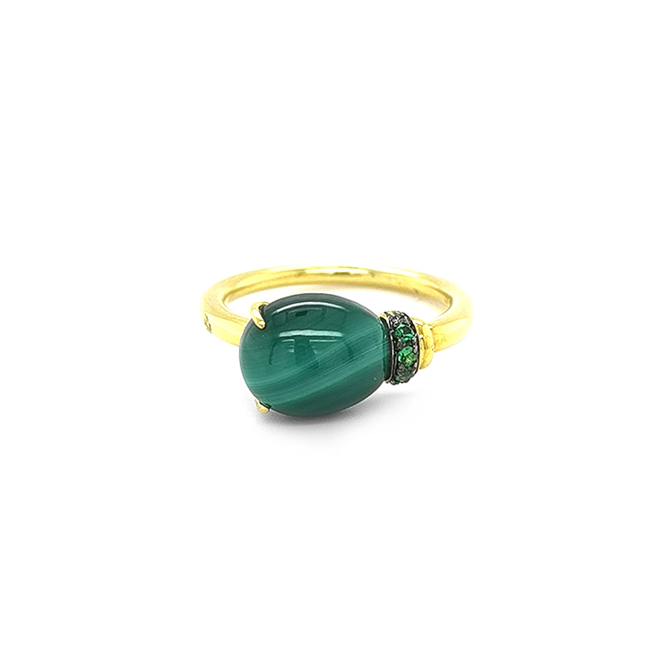 Zlatý Prsten s Malachitem