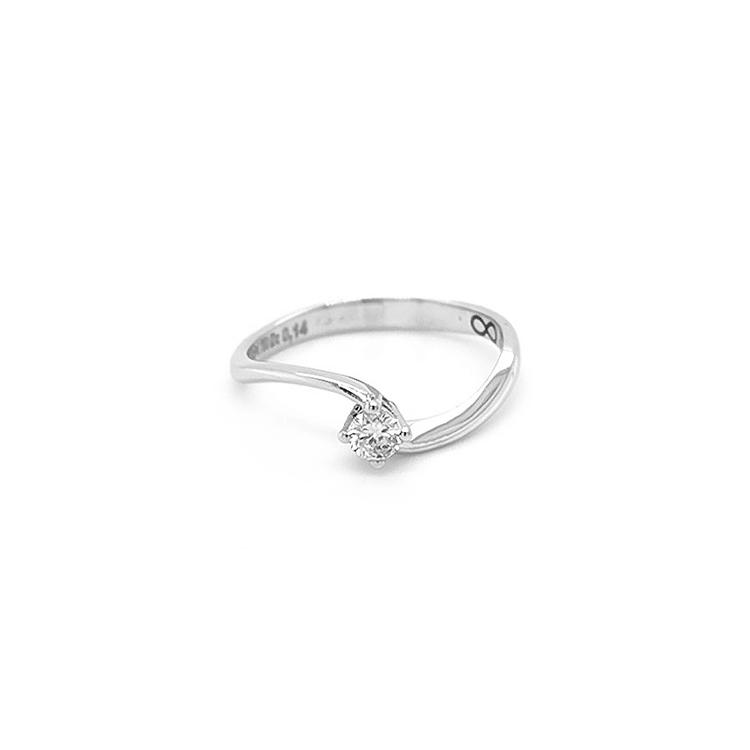 Zlatý Zásnuní Prsten s Diamantem