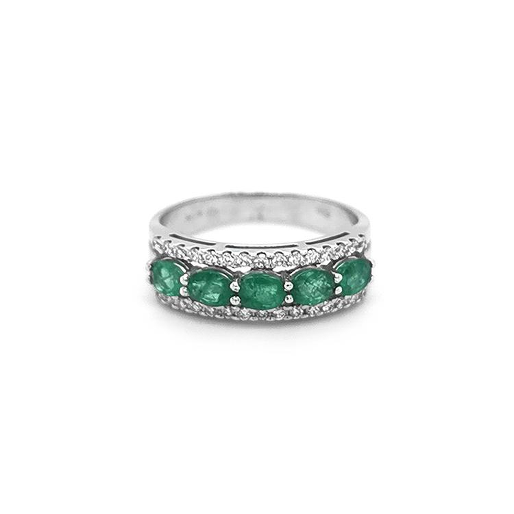 Zlatý Prsten se Smaragdy a Diamanty