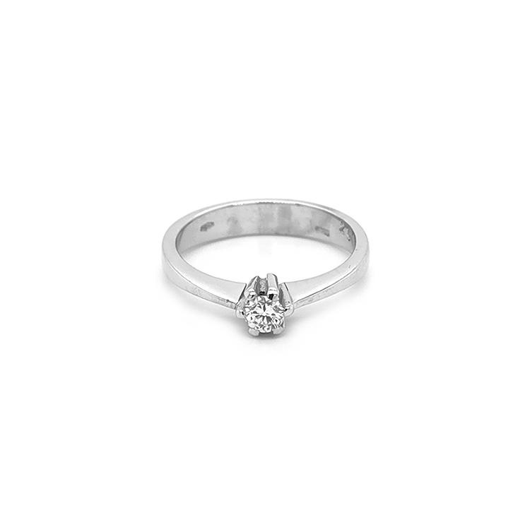 Zlatý Zádnubní Prsten s Diamantem