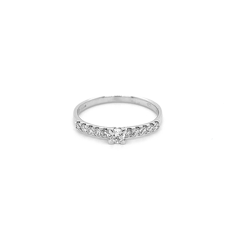 Zlatý Zásnubní Prsten s Diamatny