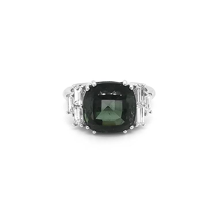 Zlatý Prsten s Zeleným Turmalínem