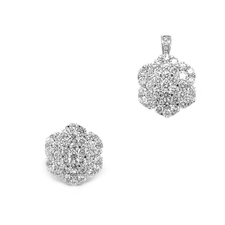 Zlatý Prsten/Přívěsek Variace s Diamanty