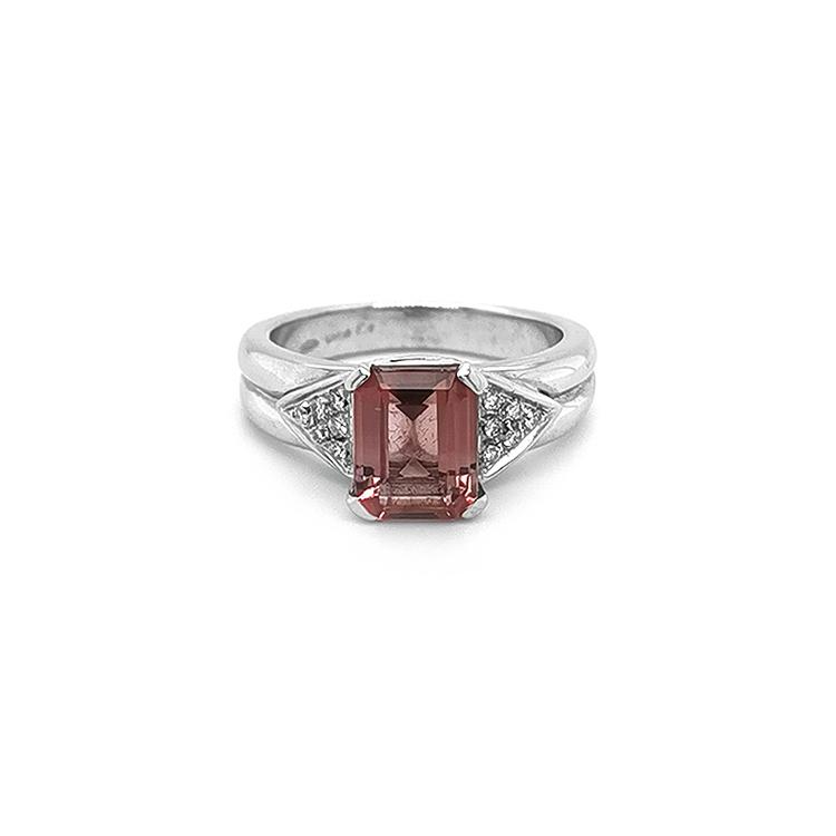 Zlatý Prsten s Růžovým Turmalínem