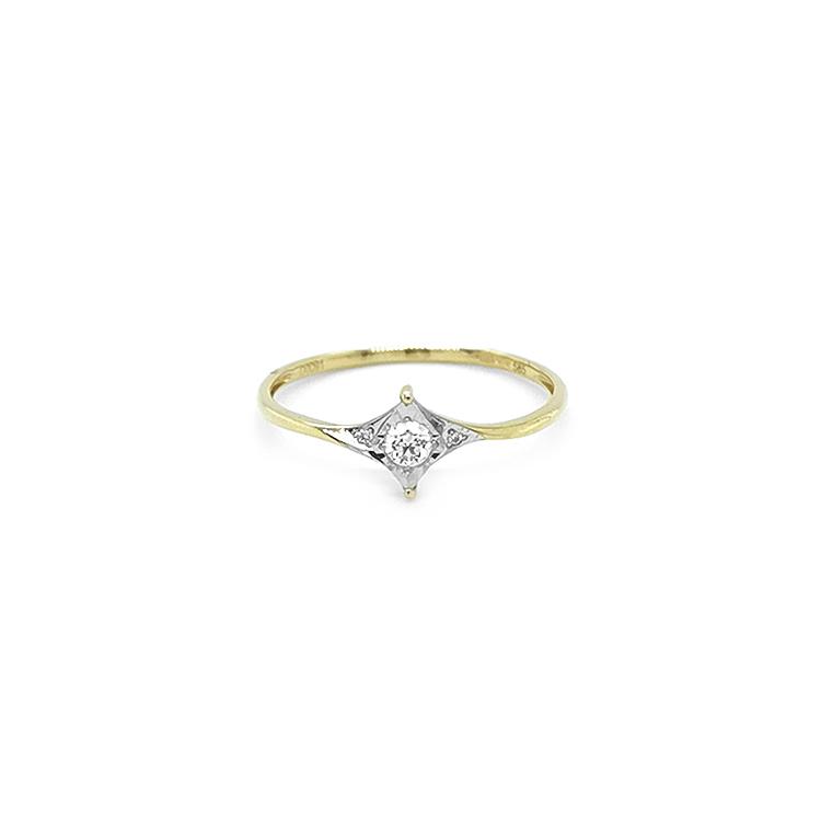 Zlatý Zánubní Prsten s Diamanty