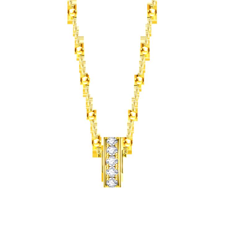 Zlatý Přívěsek s Diamanty