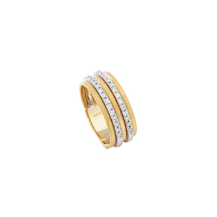 Zlatý Prsten s Diamanty Macro Bicego Goa