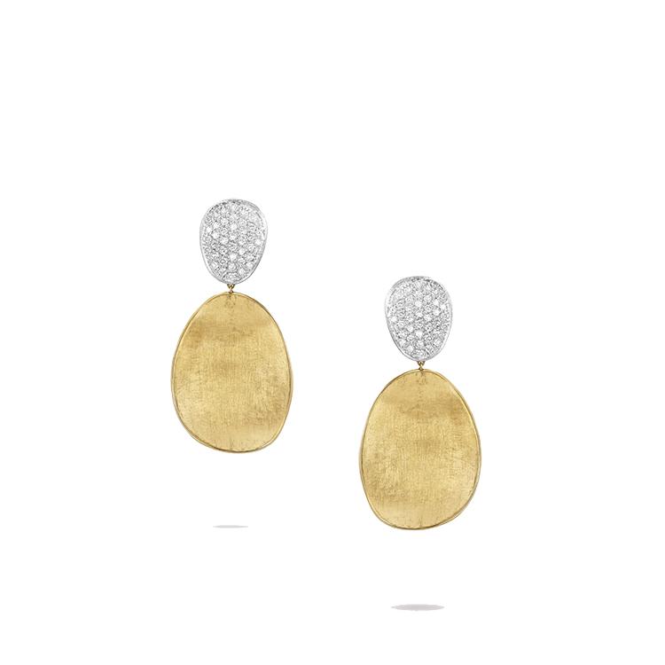 Zlaté Náušnice s Diamanty Marco Bicego Lunaria