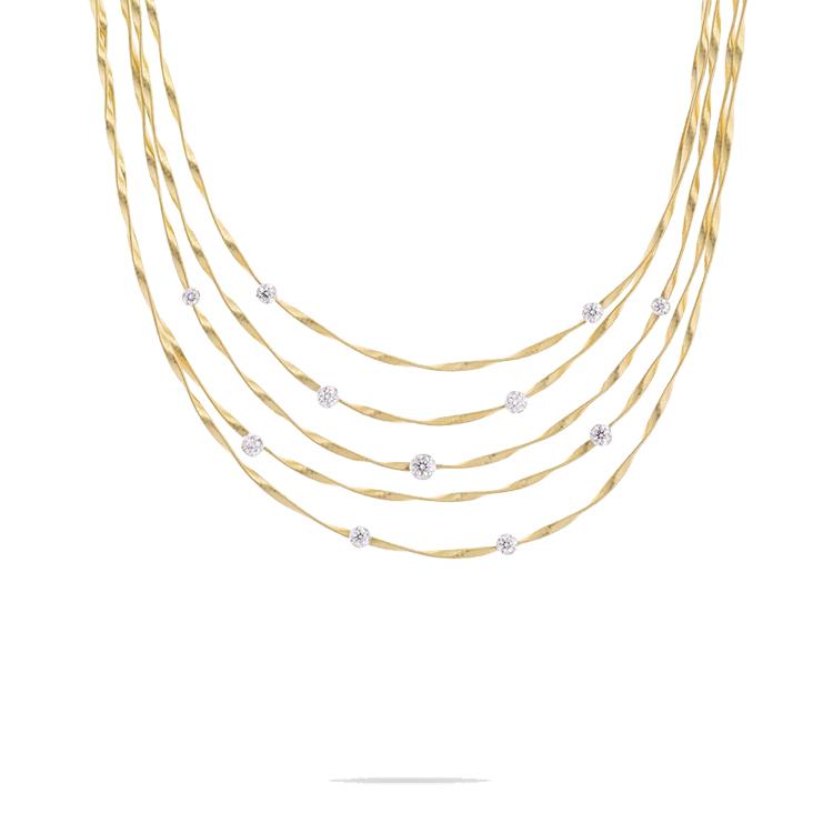 Zlatý Náhrdelník s Diamanty Marco Bicego Marrakech