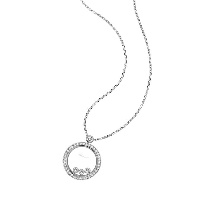 Zlatý Náhrdelník Chopard Happy Diamonds 793929-1301