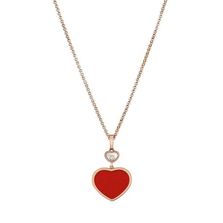 Zlatý Přívěsek Chopard Happy Hearts 797482-5801