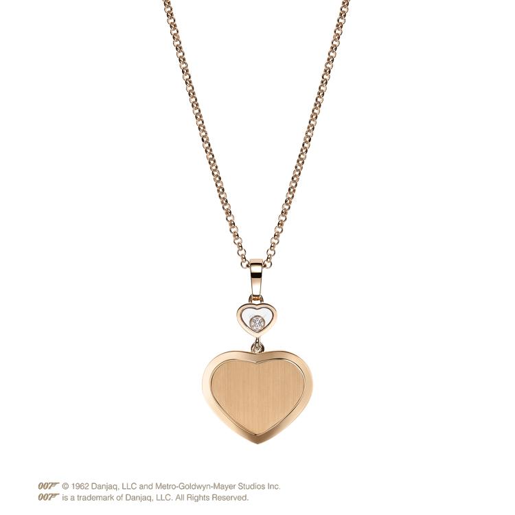 Zlatý Přívěsek Chopard Happy Hearts Golden Hearts James Bond 007 79A007-5021