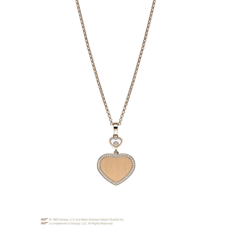 Zlatý Přívěsek Chopard Happy Hearts Golden Hearts James Bond 007 79A007-5921