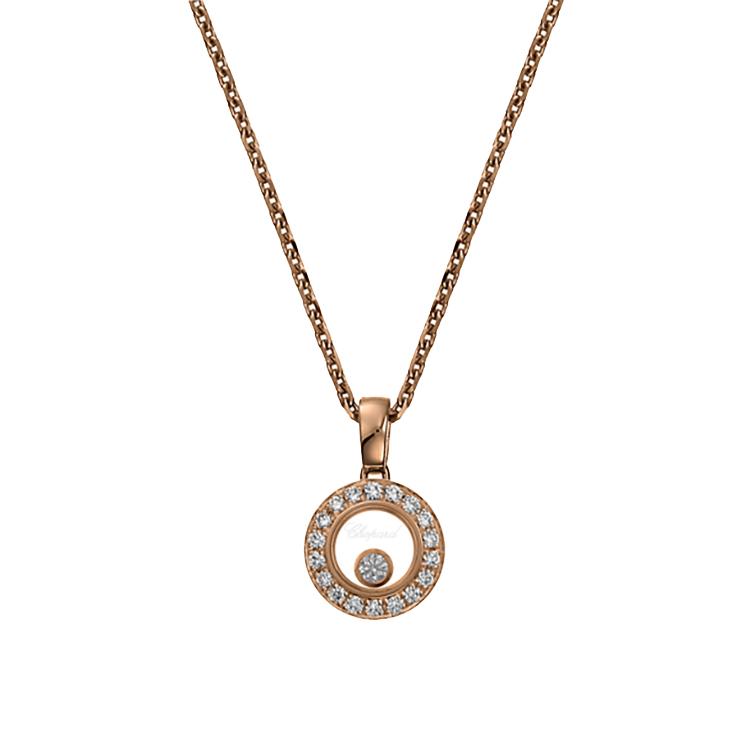 Zlatý Přívěsek Chopard Happy Diamonds 79A017-5201