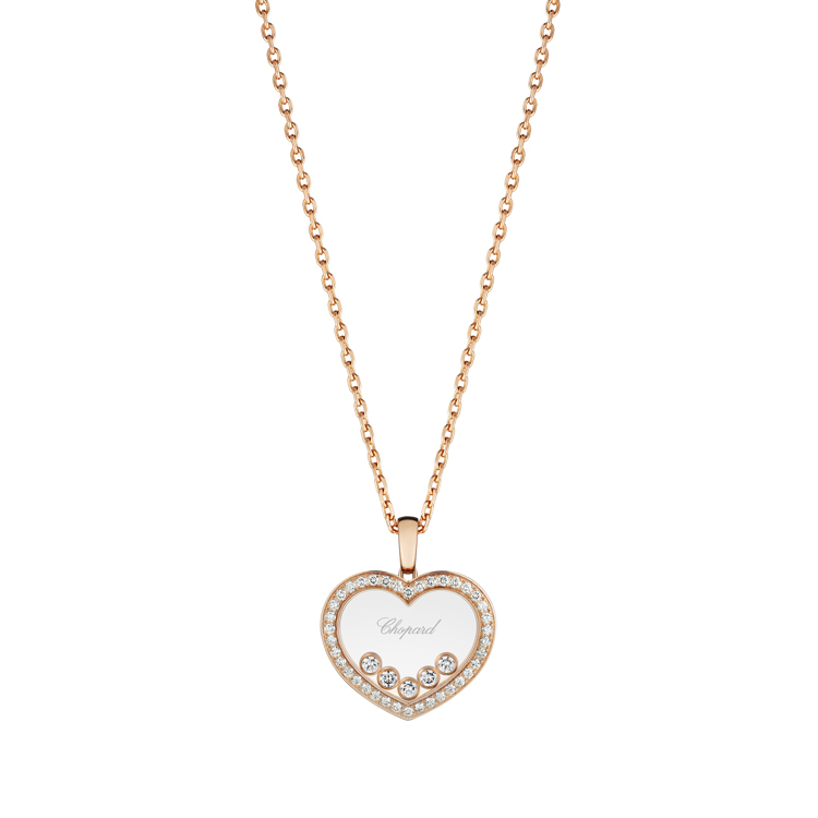 Zlatý Přívěsek Chopard Happy Diamonds 79A038-5201