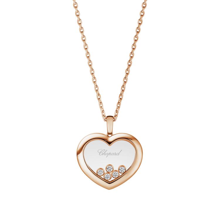 Zlatý Přívěsek Chopard Happy Diamonds 79A039-5001
