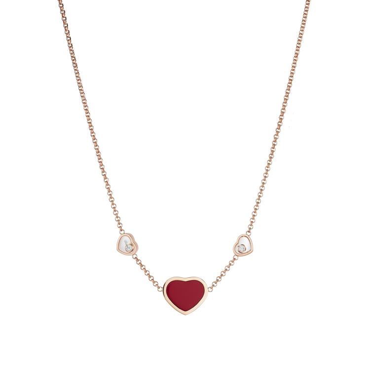Zlatý Náhrdelník Chopard Happy Hearts 81A082-5801