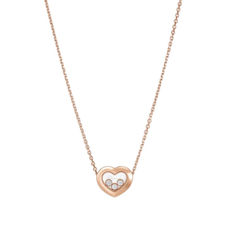 Zlatý Náhrdelník Chopard Happy Diamonds 81A611-5001