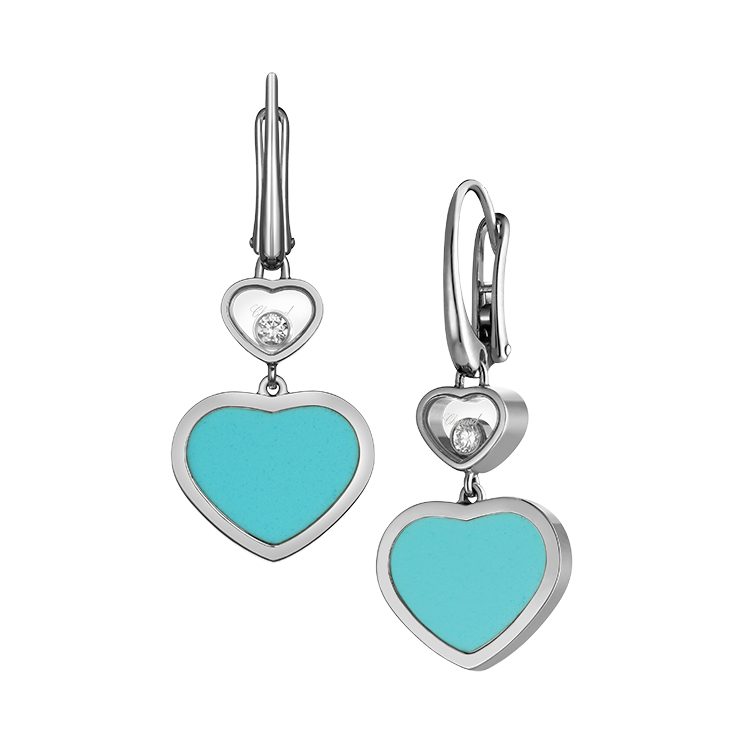 Zlaté Náušnice Chopard Happy Hearts 837482-1410