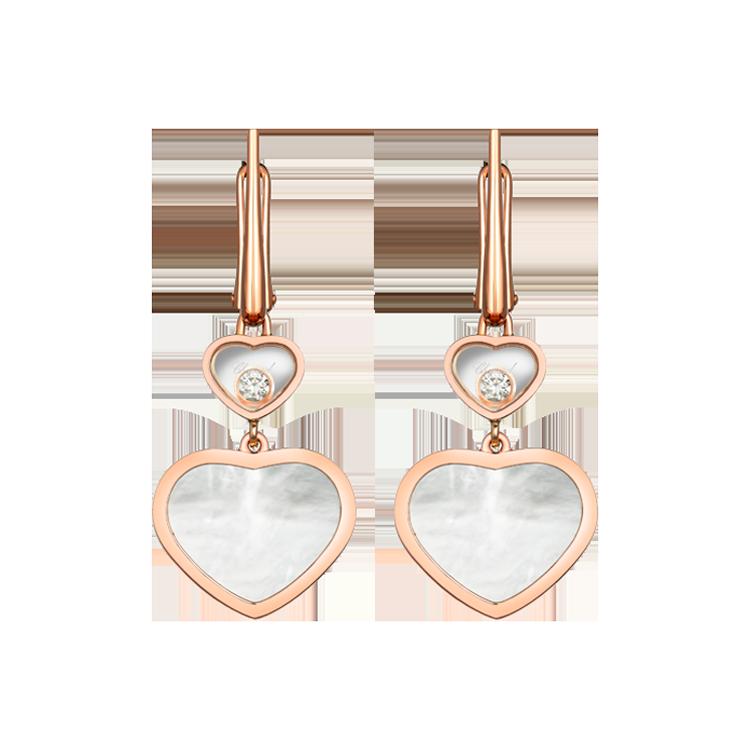 Zlaté Náušnice Chopard Happy Hearts 837482-5310