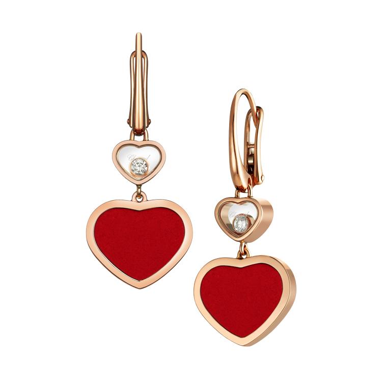 Zlaté Náušnice Chopard Happy Hearts 837482-5810