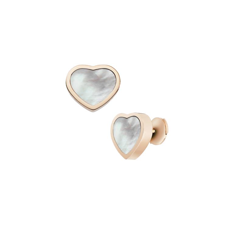 Zlaté Náušnice Chopard Happy Hearts 839482-5301