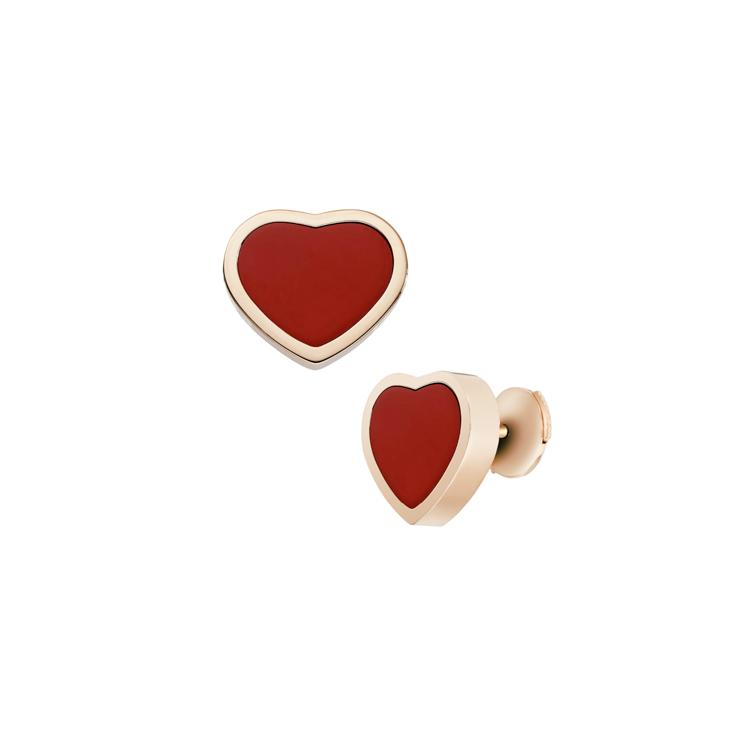 Zlaté Náušnice Chopard Happy Hearts 839482-5801