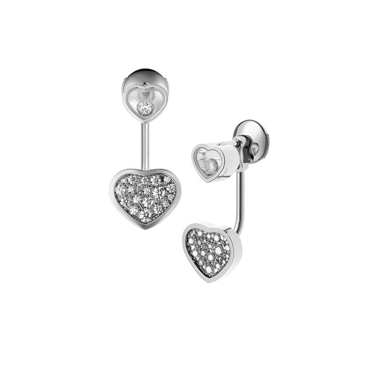 Zlaté Náušnice Chopard Happy Hearts 83A082-1009