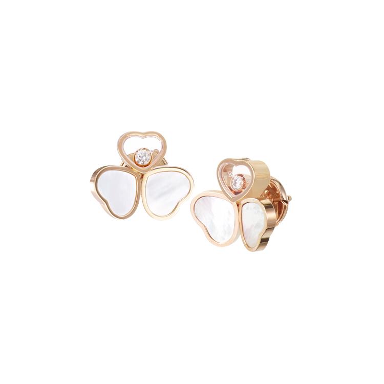 Zlaté Náušnice Chopard Happy Hearts 83A083-5301
