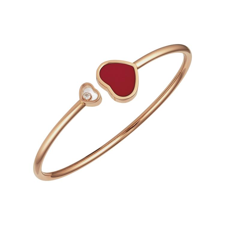 Zlatý Náramek Chopard Happy Hearts 857482-5704