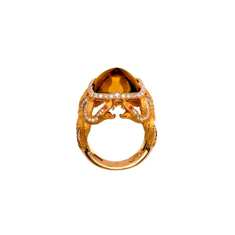 Zlatý Prsten Magerit Mythology Snake Antique