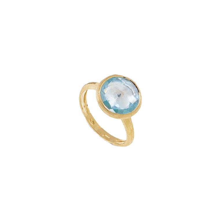 Zlatý Prsten s Modrým Topazem Marco Bicego Jaipur