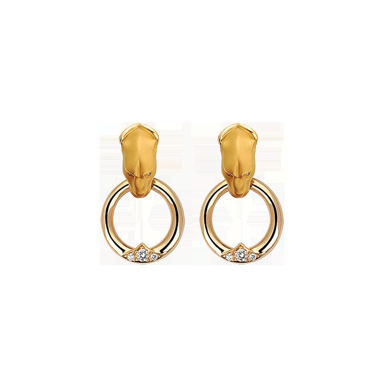 Zlaté Náušnice s Diamanty Magerit Vitral Aldaba