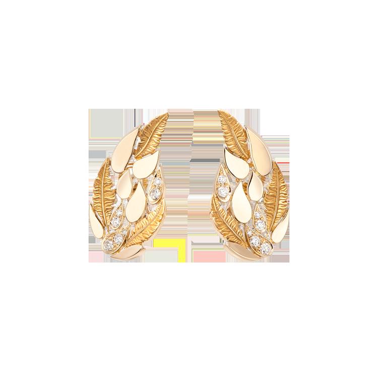 Zlaté Náušnice s Diamanty Magerit Hechizo Romance