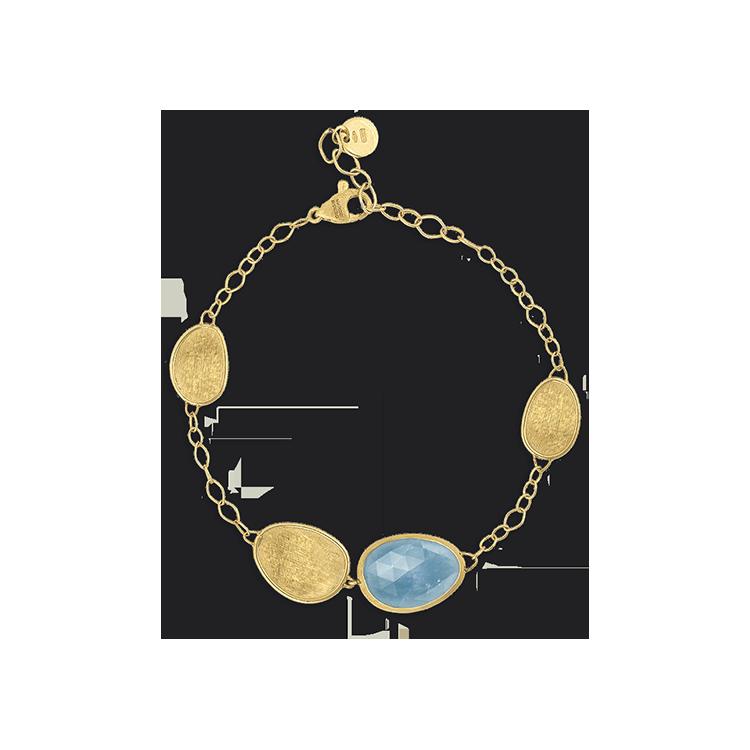 Zlatý Náramek s Modrým Topazem Marco Bicego Lunaria