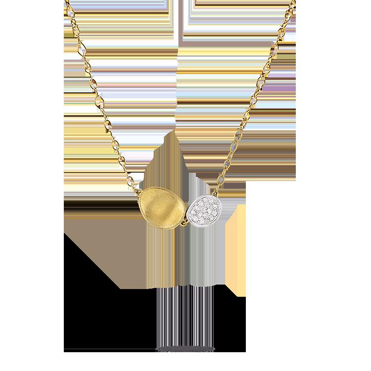 Zlatý Náhrdelník s Diamanty Marco Bicego Lunaria
