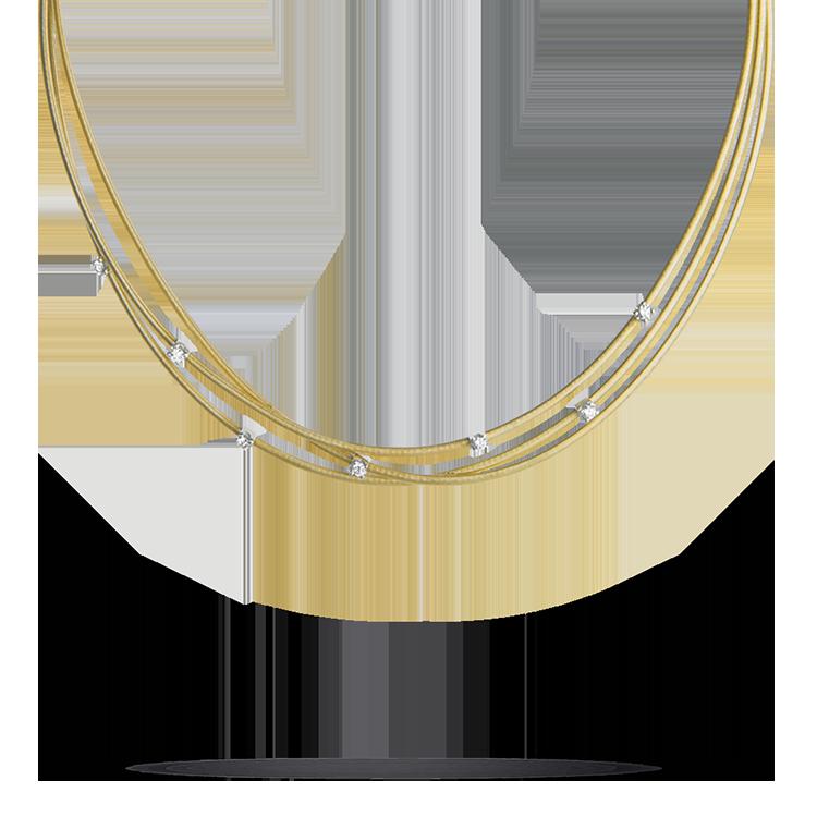 Zlatý Náhrdelník s Diamanty Marco Bicego Goa