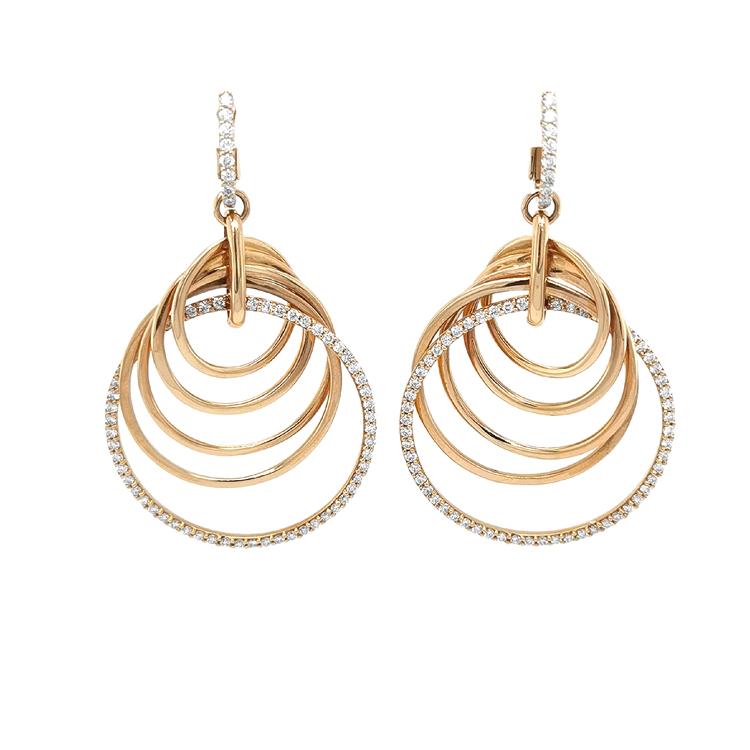 Zlaté Náušnice Crivelli s Diamanty