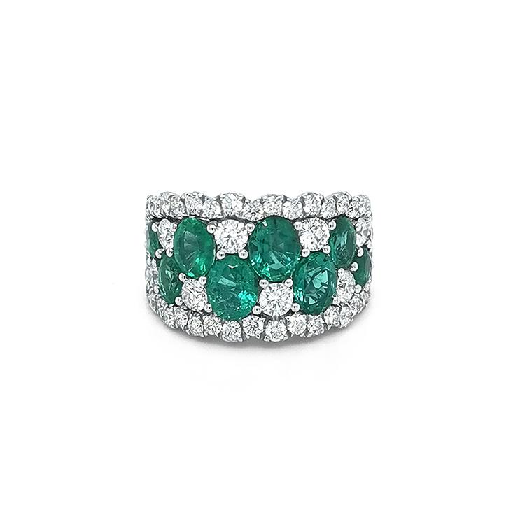 Zlatý Presen Crivelli se Smaragdem a Diamanty
