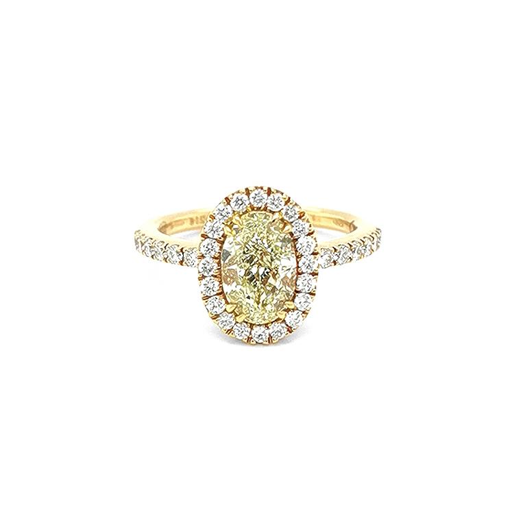 Zlatý Zásnubní Prsten s Žlutým Fancy Diamantem