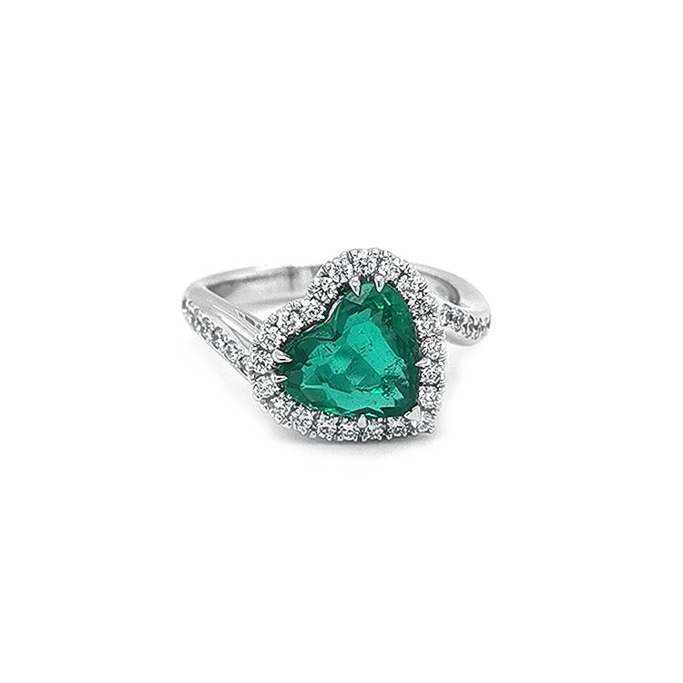 Zlatý Prsten Civelli se Smaragdem a Diamanty