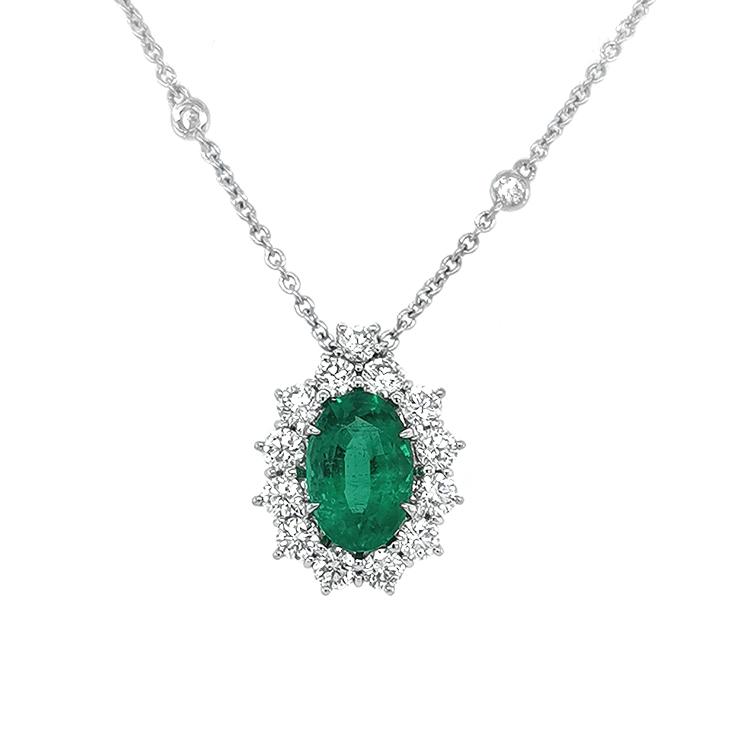 Zlatý Přívěsek Crivelli se Smaragdem a Diamanty