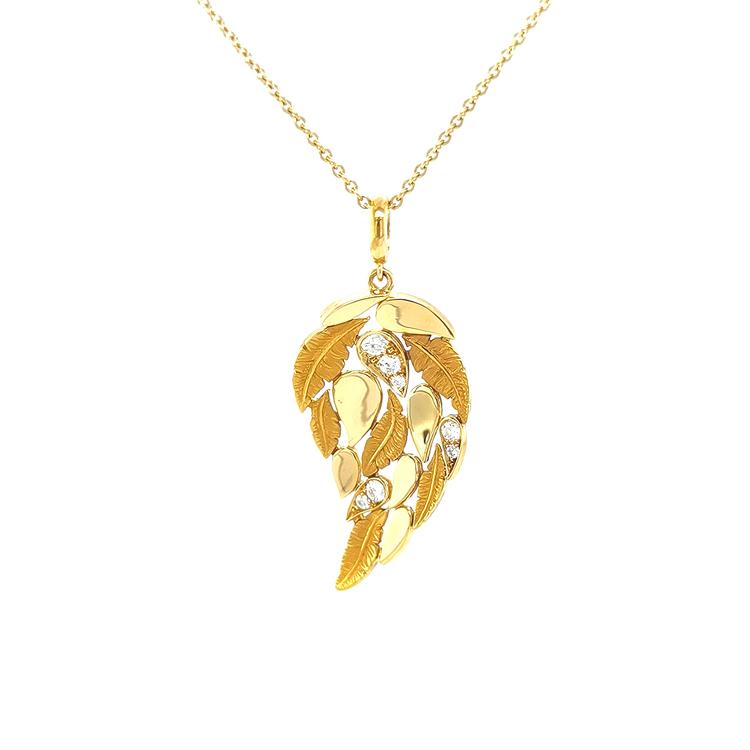 Zlatý Přívěsek s Diamanty Magerit Hechizo Romance