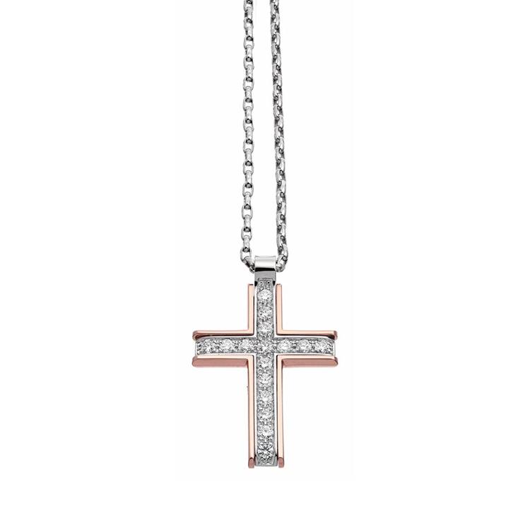 Zlatý Přívěsek Kříž Zancan Couture First
