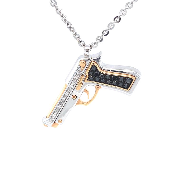 Zlatý Přívěsek Pistole Zancan Couture Limited Edition