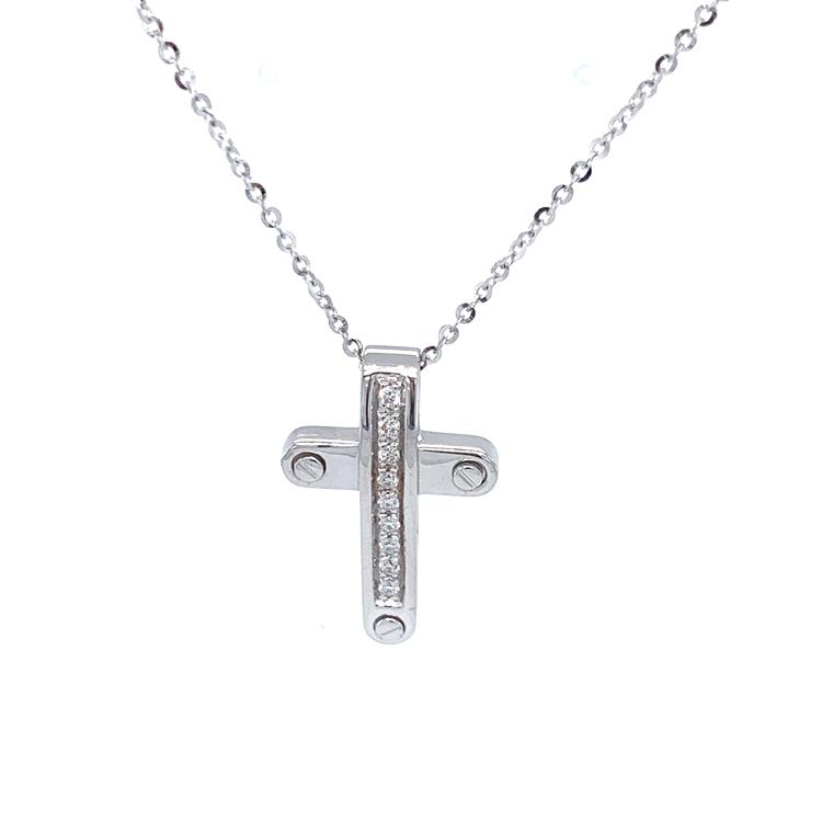 Zlatý Přívěsek Kříž Zancan Insignia s Diamanty