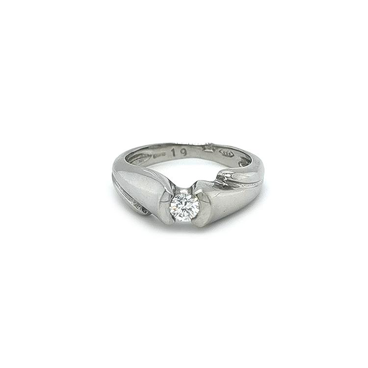 Platinový Zásnubní Prsten s Diamantem
