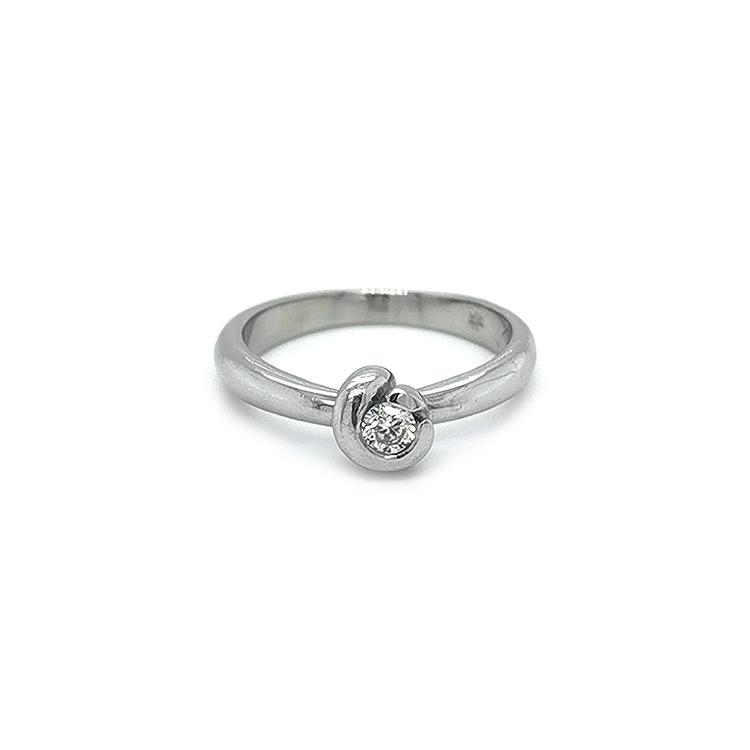 Plationvý Prsten s Diamantem