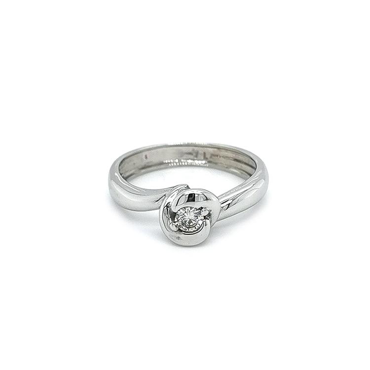 Platinový Prsten s Diamantem